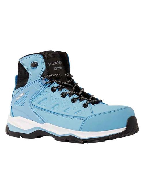 Hard Yakka Atomic Hybrid Womens Zip Sided Lightweight Safety Hiker in Blue (Y60173)