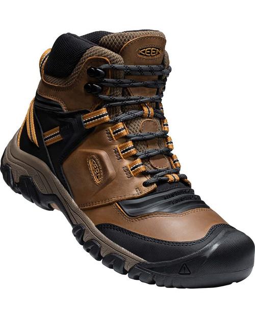 Keen Ridge Flex Mid WP Waterproof Men's Hiking Shoes in Bison Golden Brown (1025666)