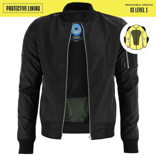 Johnny Reb Bomber Jacket with Kevlar® Lining In Black (JRJ10029)