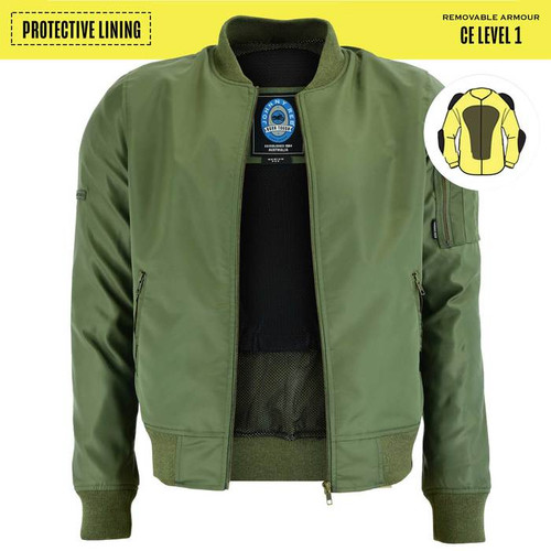 Johnny Reb Bomber Jacket with Kevlar® Lining In Military Green (JRJ10030)