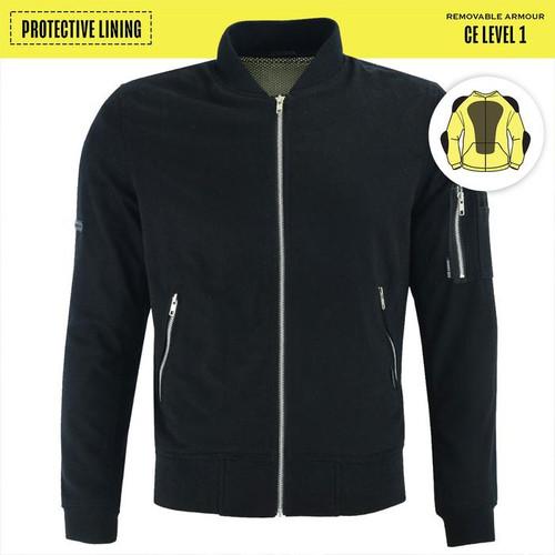 Johnny Reb Bomber Jacket with Kevlar® Lining In Twill Black (JRJ10036)