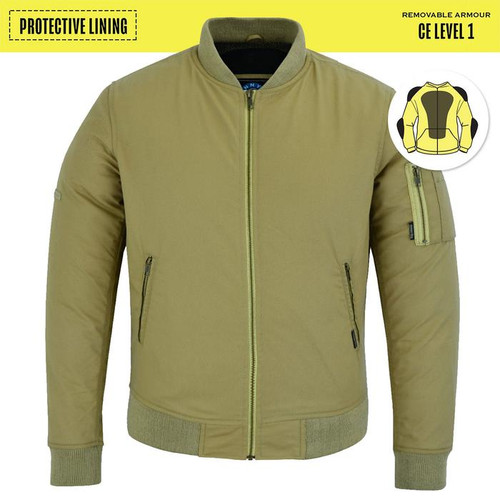 Johnny Reb Bomber Jacket with Kevlar® Lining In Sand Cotton Twill (JRJ10035)