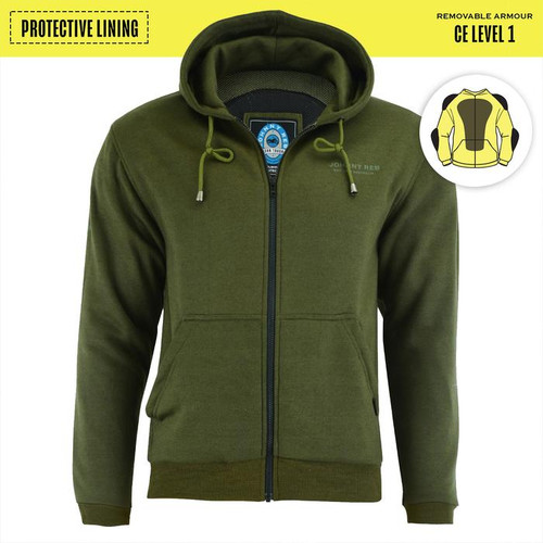 Johnny Reb Hume Protective Full Zip Fleece Hoodie with KEVLAR® in Forest (JRK10027)