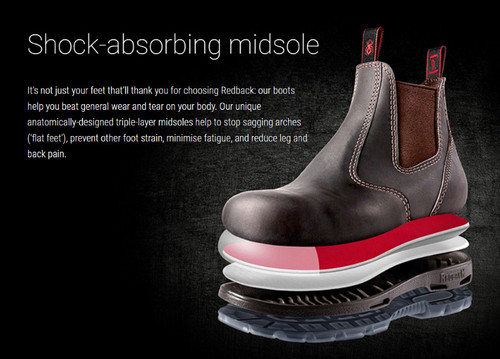 REDBACK Non Safety Boots Claret Oil Kip