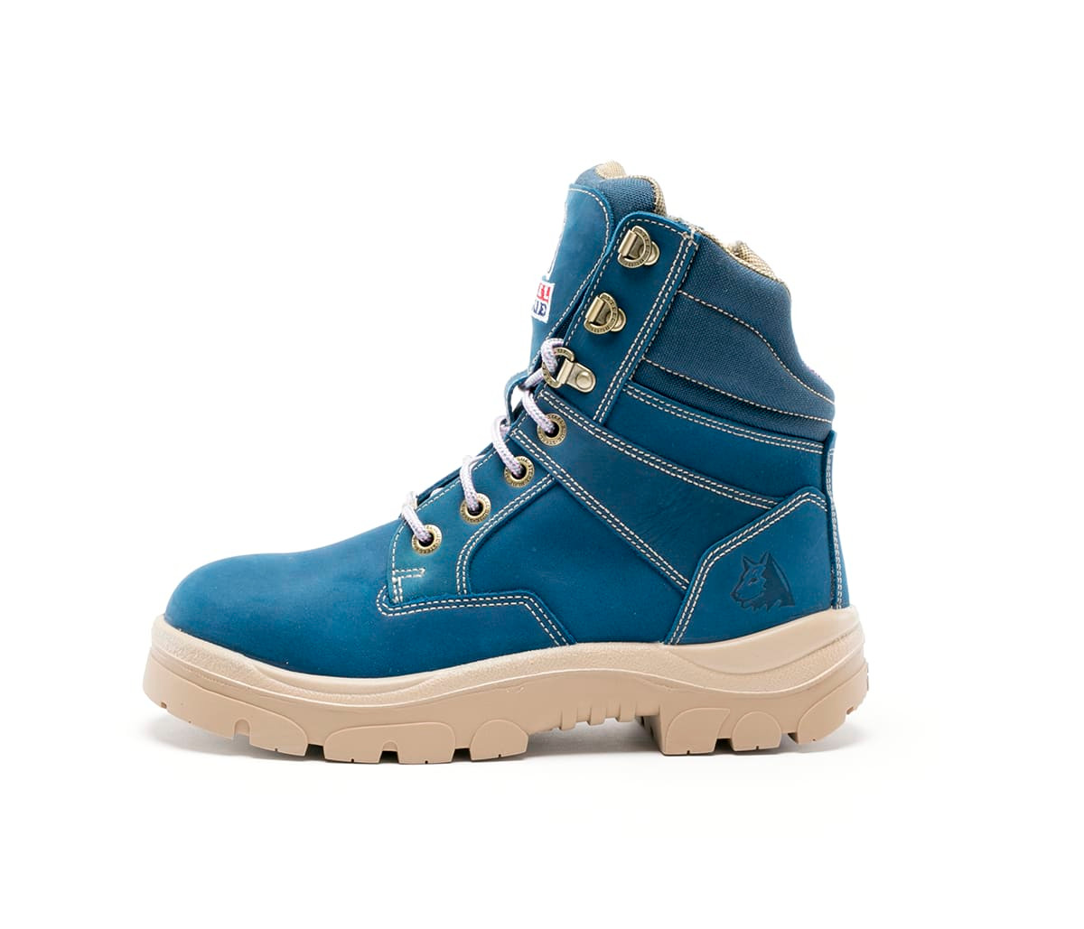 db0ff75faae Details about Steel Blue Southern Cross Zip Ladies Boots in Blue with Steel  Cap