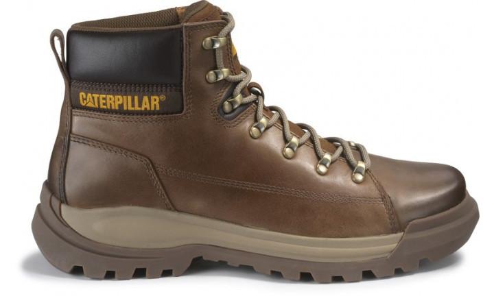 Men/'s Caterpillar Brawn Boot Pelican Leather