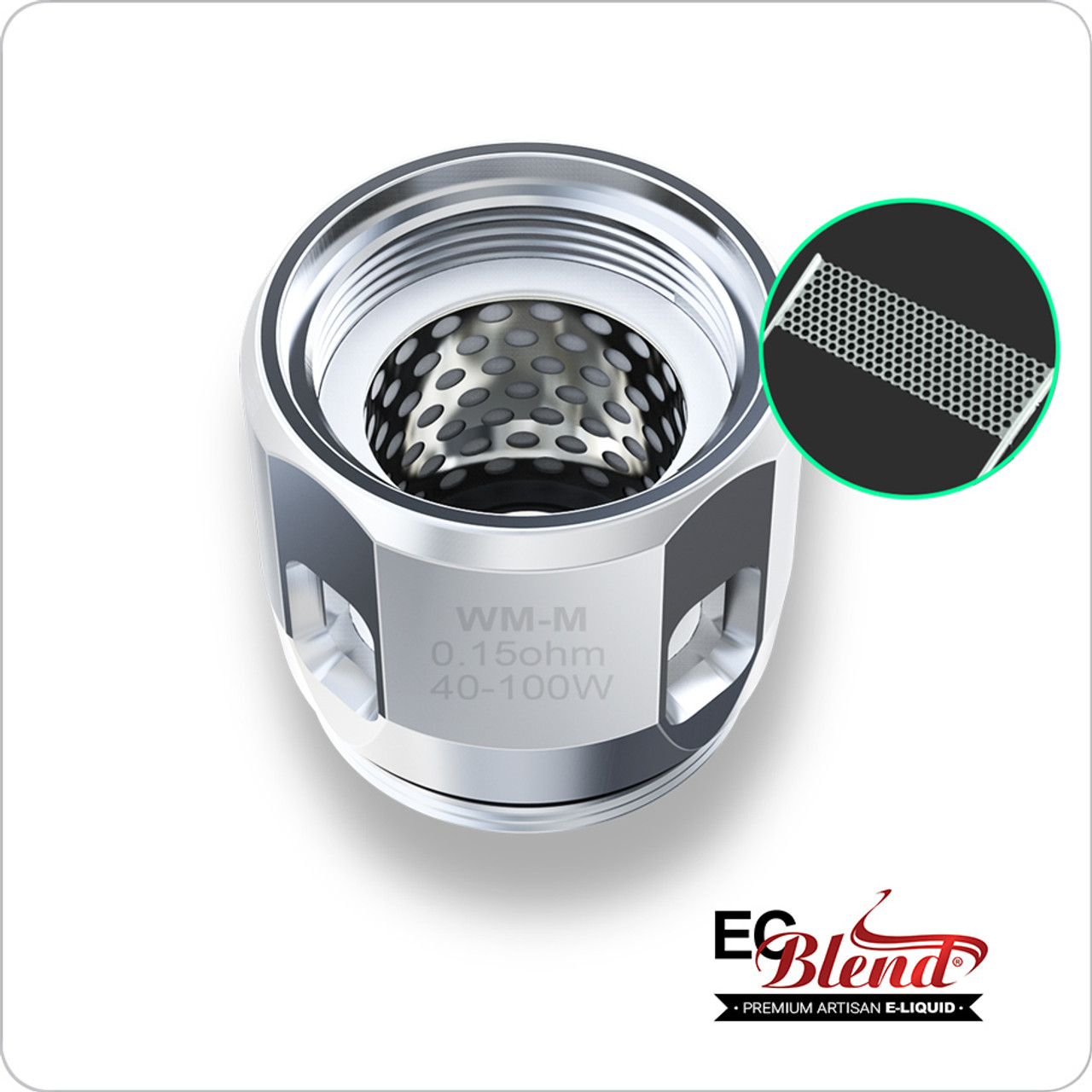 Clearomizer Replacement Head - Wismec - Gnome WM-M Mesh Coils - 5 Pack