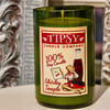 Shirley Temple soy candle made by Tipsy Candle company.