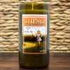 Straw and Berries Ale 14 ounce soy candle in repurposed wine bottle.