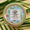 Top container of Coconut & Lemongrass Sugar Scrub by Savasana Scrubs