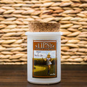 Straw and Berries Ale Soy candle in Tumbler container with cork top.  Made by Tipsy Candle Company