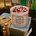 Grenache 17 ounce soy candle made by Tipsy Candle Company.