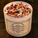 Prosecco 17 ounce soy candle made by Tipsy Candle Company.