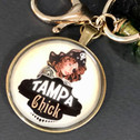 TAMPA CHICK POM-POM KEY RING