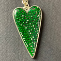 Green Heart made with green sprinkles