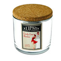 17 ounce Soy Candle made by Tipsy Candle Company -Candy Cane Martini Limited Edition