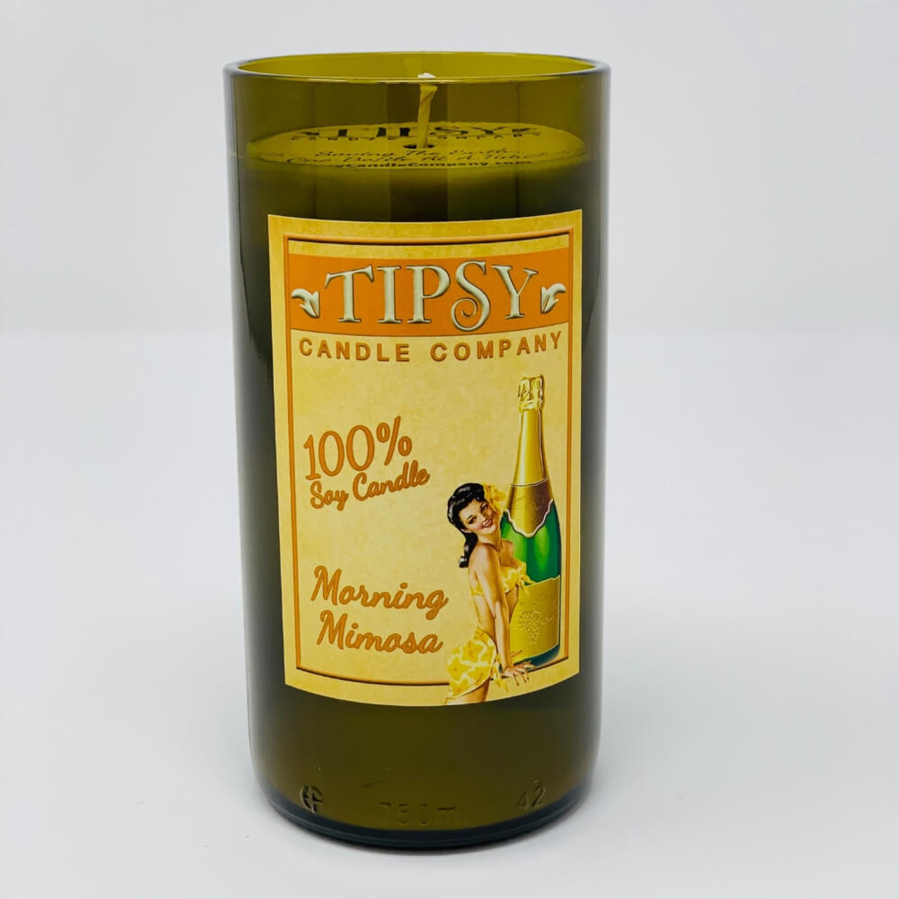 Morning Mimosa Soy Candle Front View