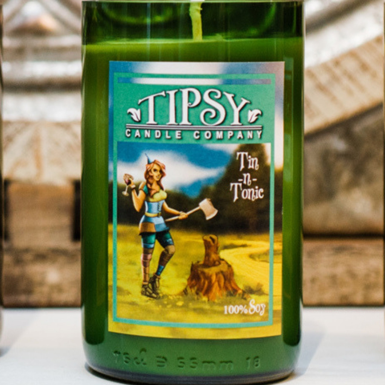 Tin-n-Tonic soy candle made by Tipsy Candle Company.