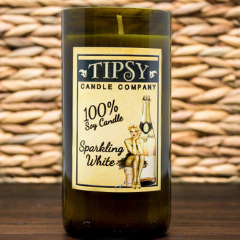Sparkling White Soy Candle made by Tipsy Candle Company