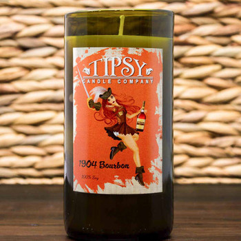 1904 Bourbon Soy Wine Bottle Candle made by Tipsy Candle Company