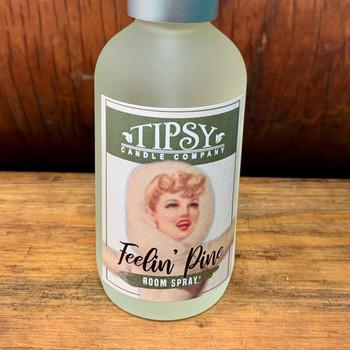 "Alpine ""felin Pine"" Room Spray, 4 ounces, made by Tipsy Candle Company."