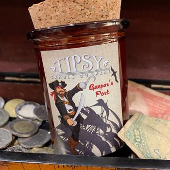 Gaspar's Port Soy Tumbler Candle with fragrances notes of Orange, tobacco leaf, dulce de Leche