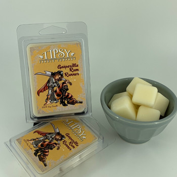 Gasparilla Rum Runner Soy Wax Melts made by Tipsy Candle Company.
