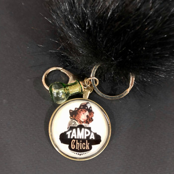 TAMPA CHICK POM-POM KEY RING