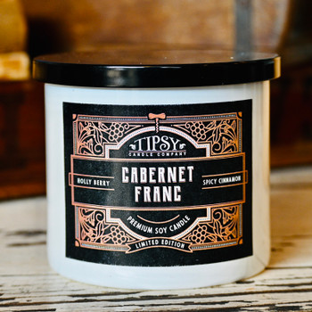 Cabernet Franc Soy Candle made by Tipsy Candle Company.