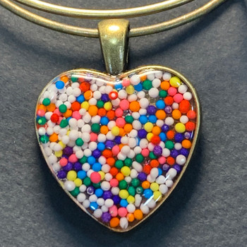 Heart Sprinkles - Charm Bracelet up close