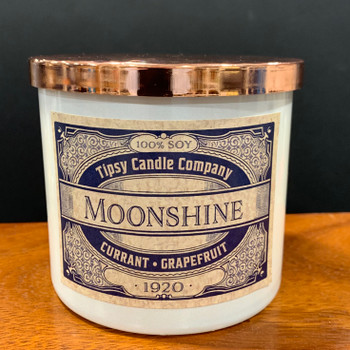 Moonshine 3 wick candle front