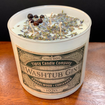 Washtub Gin 3-wick soy candle - Lifestyle picture