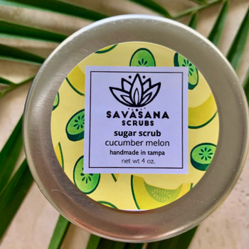 Cucumber & Melon Sugar Scrub by Savasana Scrubs