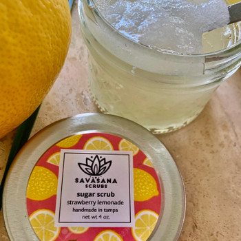 Strawberry & Lemonade Sugar Scrub by Savasana Scrubs