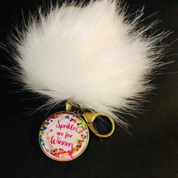 Sprinkles are for Winners l Pom Pom Key Chain