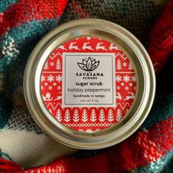 Holiday Peppermint Sugar Scrub