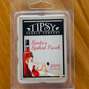 Santa's Spike Punch Soy Wax Melts made by Tipsy Candle Company