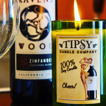 Cheer Soy Wine Bottle Candle