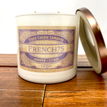 French 75-3wick soy candle