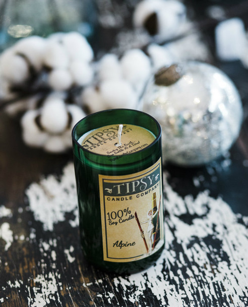 Alpine | Soy Wine Bottle Candle