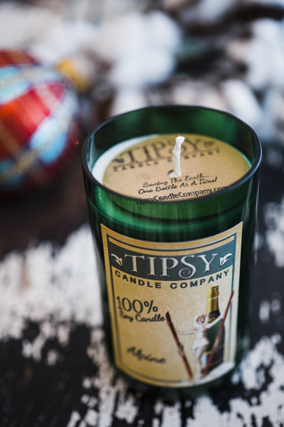 Alpine | Soy Wine Bottle Candle