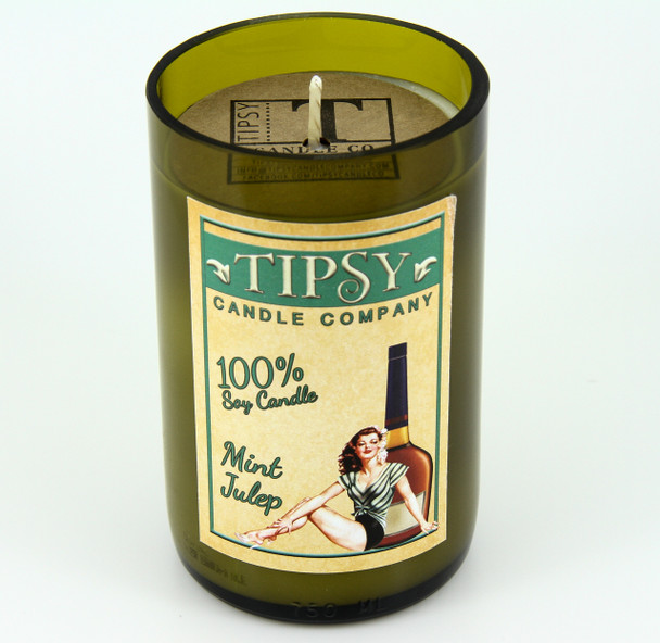 Mint Julep soy candle made by Tipsy Candle Company