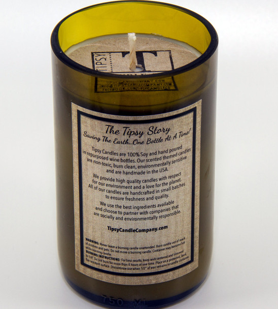 Back view of Candy Cane Martini by Tipsy Candle Company.