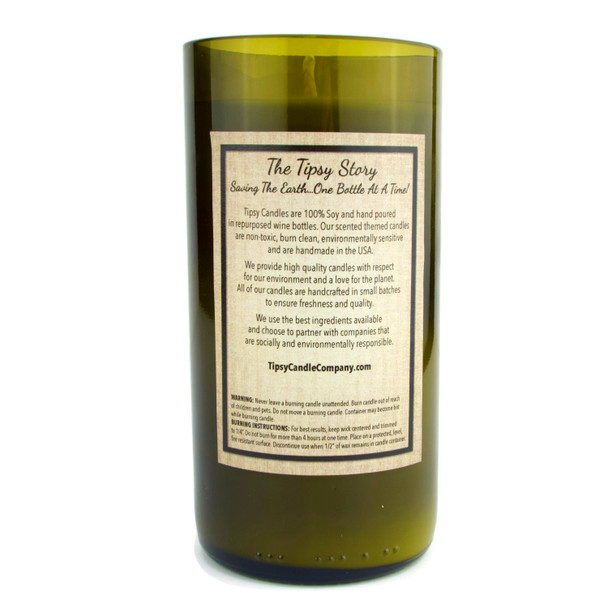 Limoncello, 100% Soy Candle in recycled wine bottle