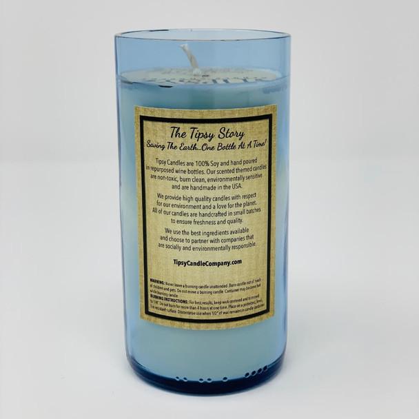 Gaspars Port Candle in blue back label