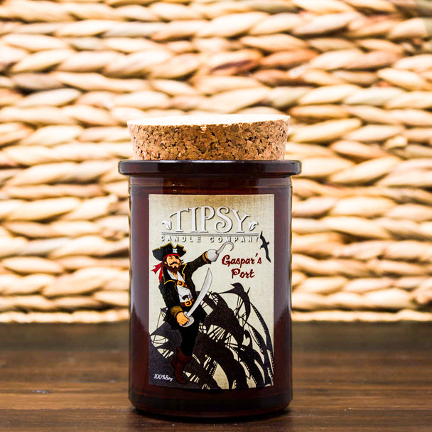 Gaspar's Port Soy Candle in Tumbler container with cork top