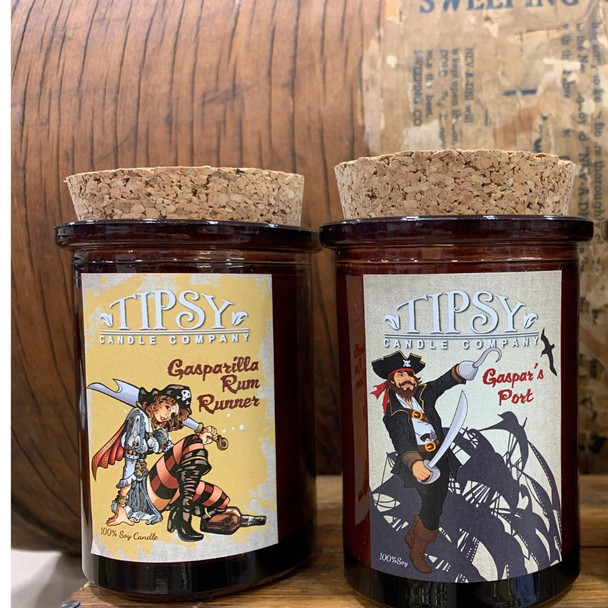 Gasparilla Tumbler Candle Collection.  Made by Tipsy Candle Company.