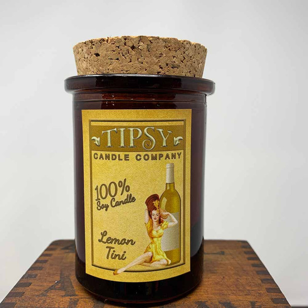 Lemon-Tini Tumbler Soy Candle by Tipsy Candle Company.  This spunky scent will rejuvenate your spirit.