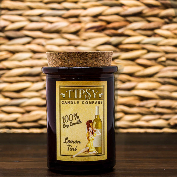 Lemon-Tini Tumbler Soy Candle by Tipsy Candle Company