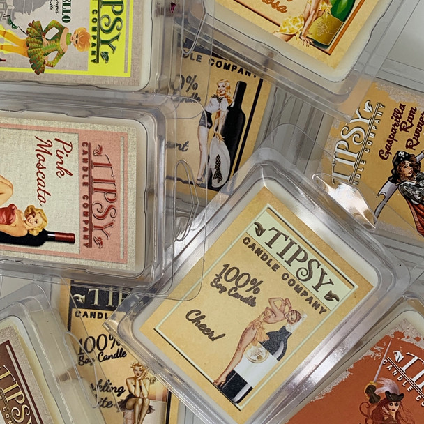 Soy Wax  Melts made by Tipsy Candle Company.